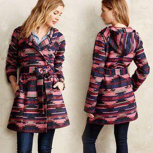 Anthropologie Tabitha Leona Wrap Aztec Wool Coat S